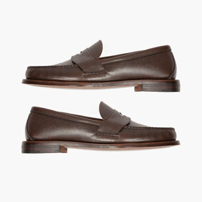 John Simons x Rancourt Grain Leather Loafers