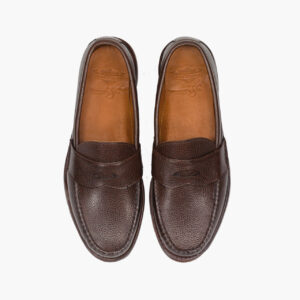 John Simons x Rancourt Grain Leather Loafers