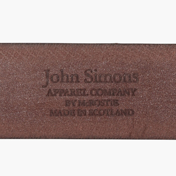 John Simons X Mc Rostie Bridle Leather Belt 1 1/2 Inch Leather Brown