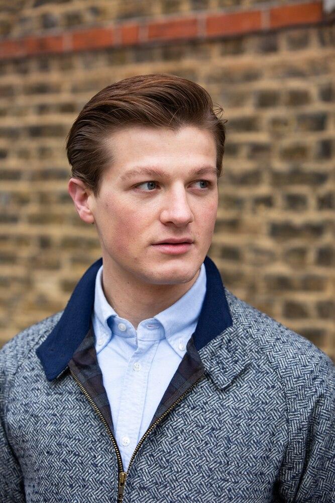 John Simons Limited Edition Made in London Blue Parquet Harrington