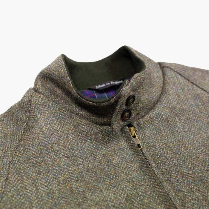 John Simons Limited Edition Made in London Green Tweed Harrington