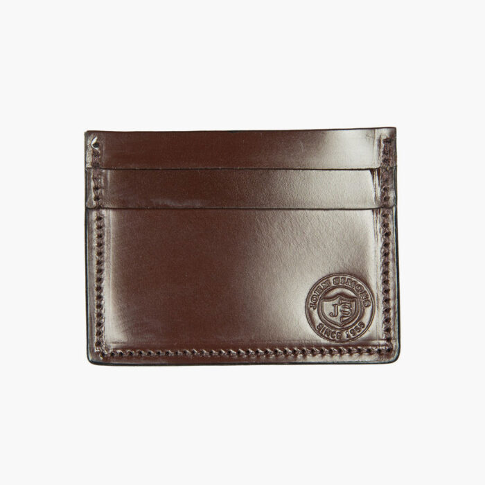 John Simons x McRostie Limited Edition Brown Leather Card Holder