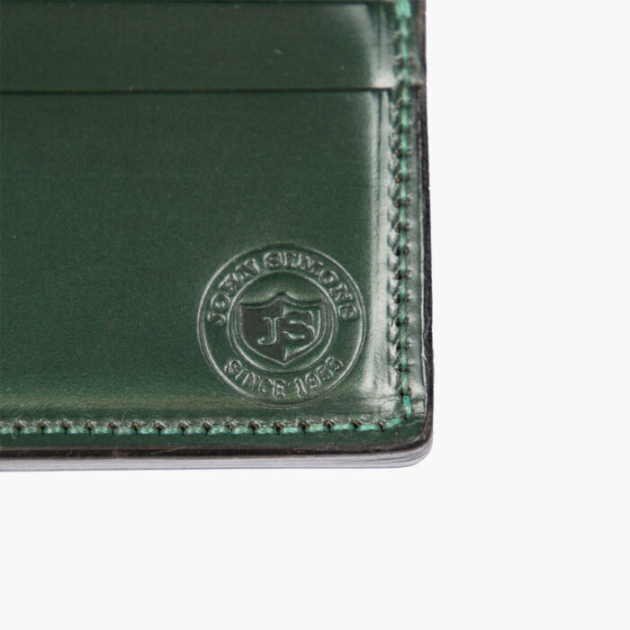 John Simons x McRostie Limited Edition Green Leather Card Holder