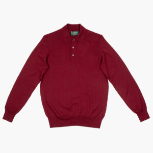 Alan Paine Merino Polo Neck Bordeaux