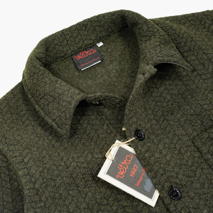 Vetra Green Moss Knitted Wool Jacket – John Simons Menswear