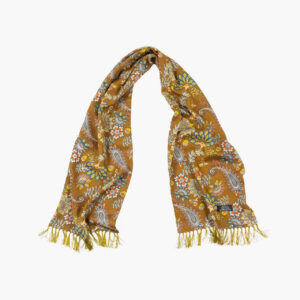 Tootal Green Floral Paisley Print Rayon Scarf