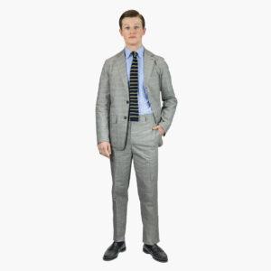 John Simons Ivy Trouser Cotton Glen Plaid