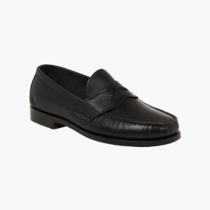 John Simons x Rancourt Loafers Black Calf