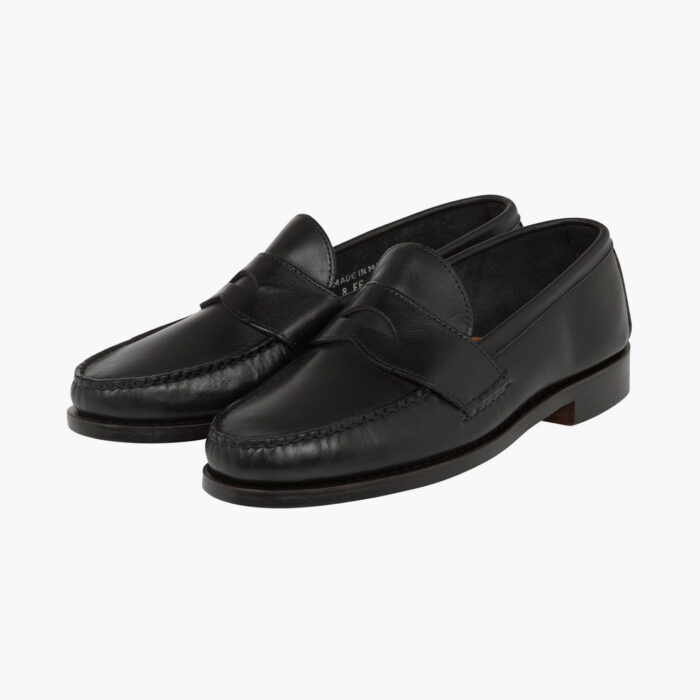 John Simons x Rancourt Loafers Black Calf