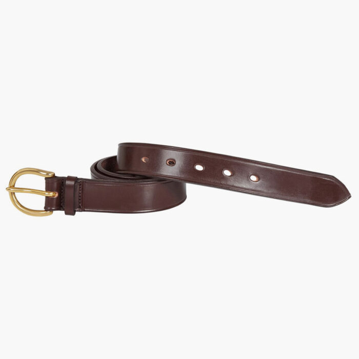 John Simons X Mc Rostie Bridle Leather Belt 1 1/4 Inch Leather Brown