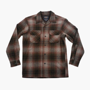Pendelton Brown/Olive/Grey Ombre Plaid Board Shirt