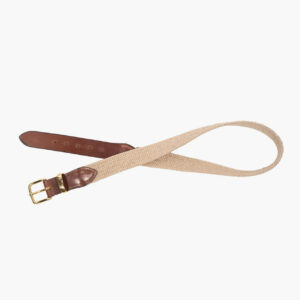 John Simons Woven Stretch Surcingle Belt Natural