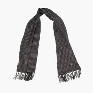 Tootal Black and White Polka Dot Silk Scarf