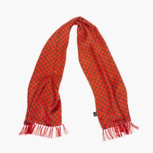 Tootal Red Mini Geometric Print Silk Scarf