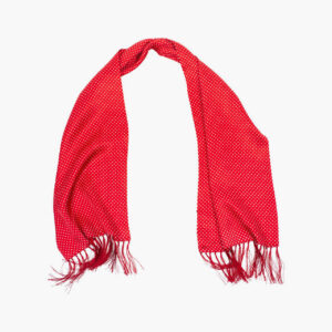 Tootal Vintage Red Polka Dot Silk Scarf