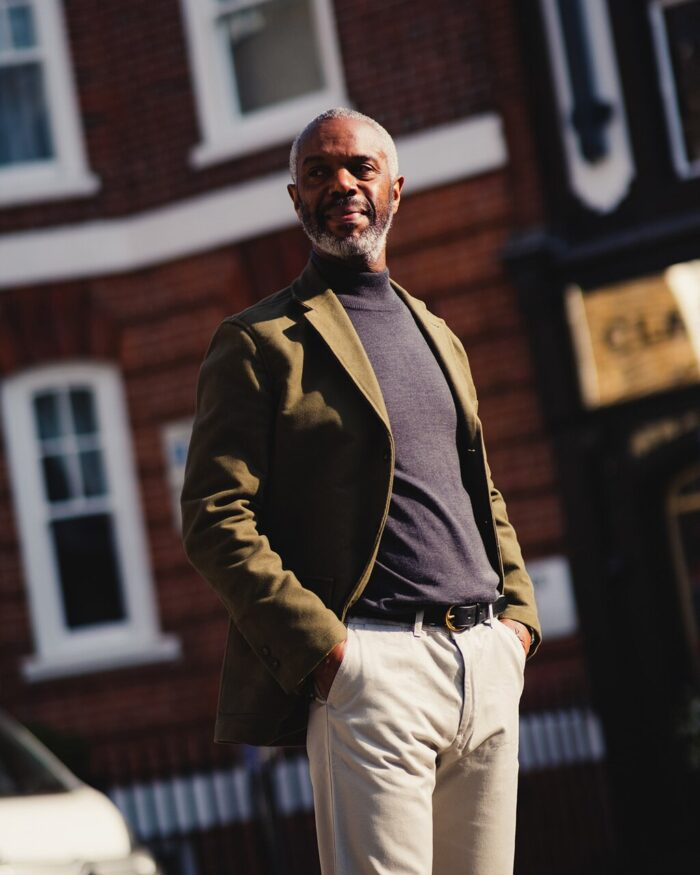 John Simons Made in London Ivy Jacket Green Moleskin
