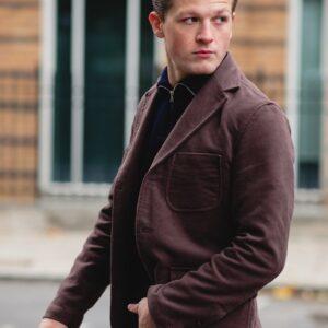 John Simons Made in London Ivy Jacket Taupe Moleskin