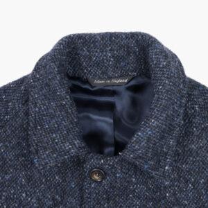 John Simons Overcoat Donegal Blue