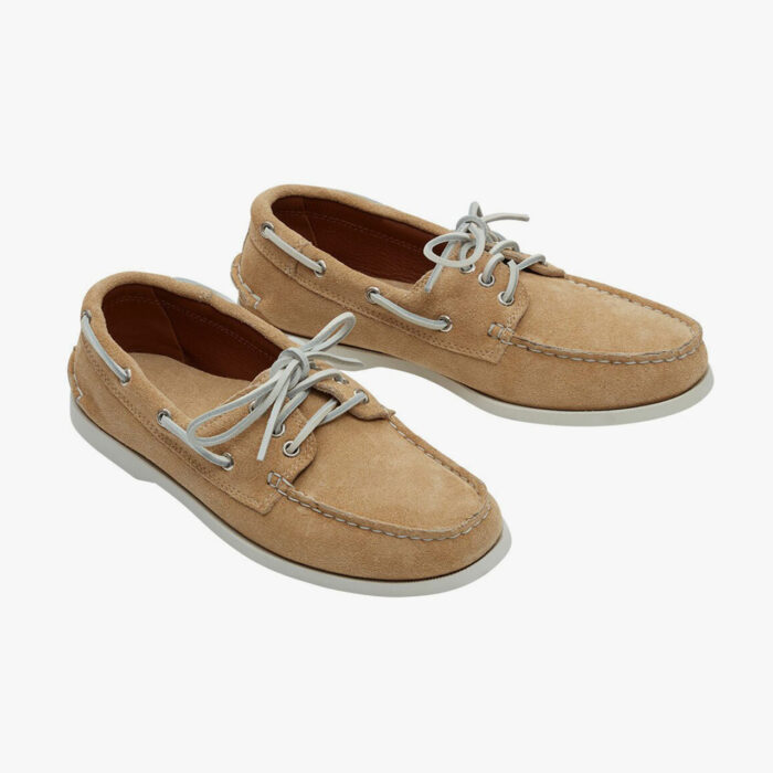 Quoddy Made in U.S. Downeast Boat Shoe Sand Suede