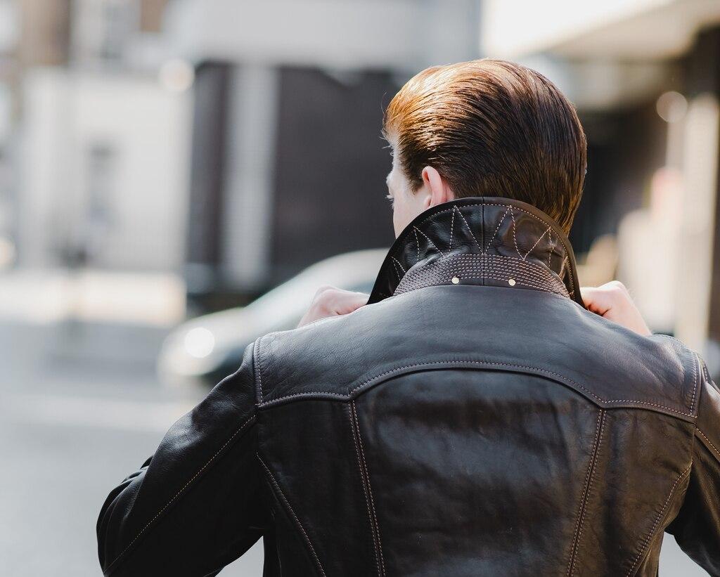 Thedi Leathers Half Belt Jacket – John Simons Menswear London