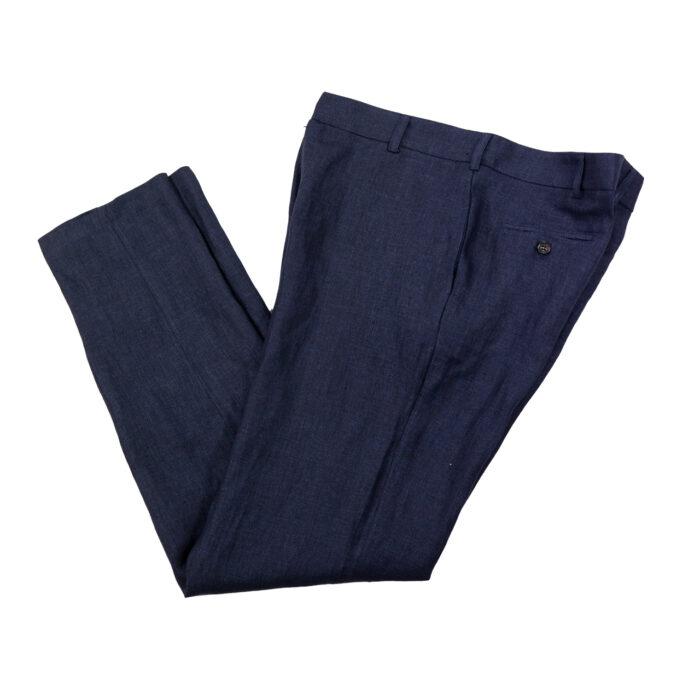 Indigo Linen Trousers 2