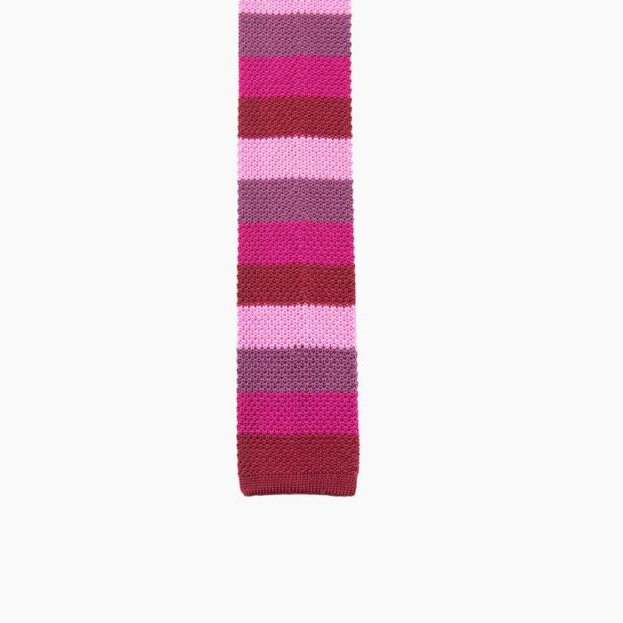 Silk knit red/pink multi stripe 1