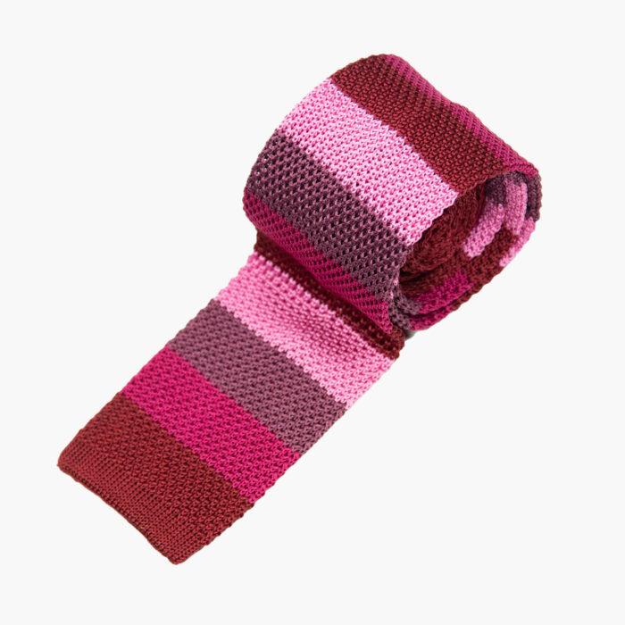 Silk knit red/pink multi stripe 2