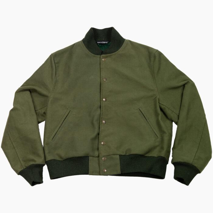 Olive Varsity Jacket 1