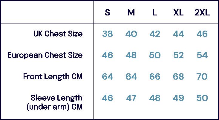 Size Charts – Alan Paine-John Simons Menswear