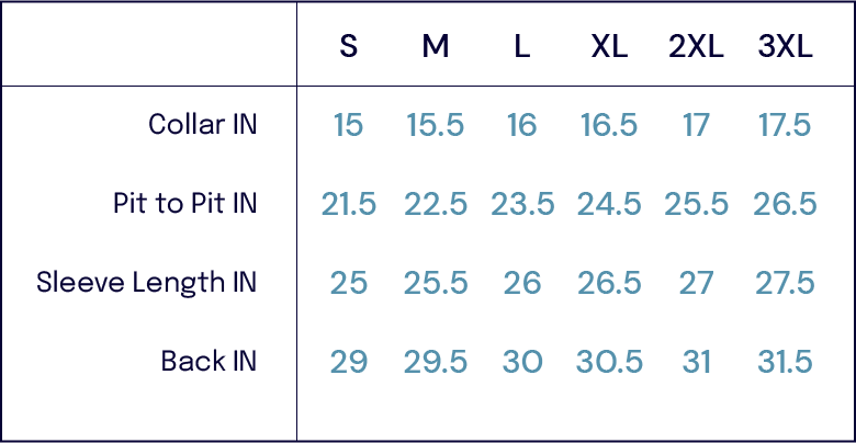 Size Charts – BD Baggies-John Simons Menswear