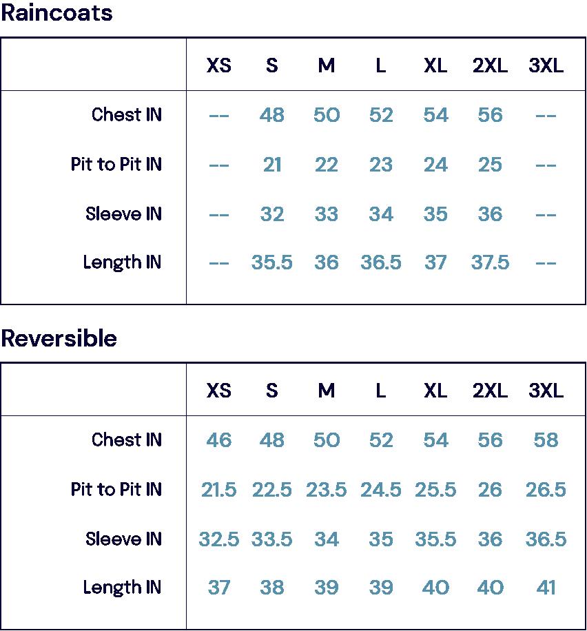 Size Charts – L impermeabile John Simons Menswear