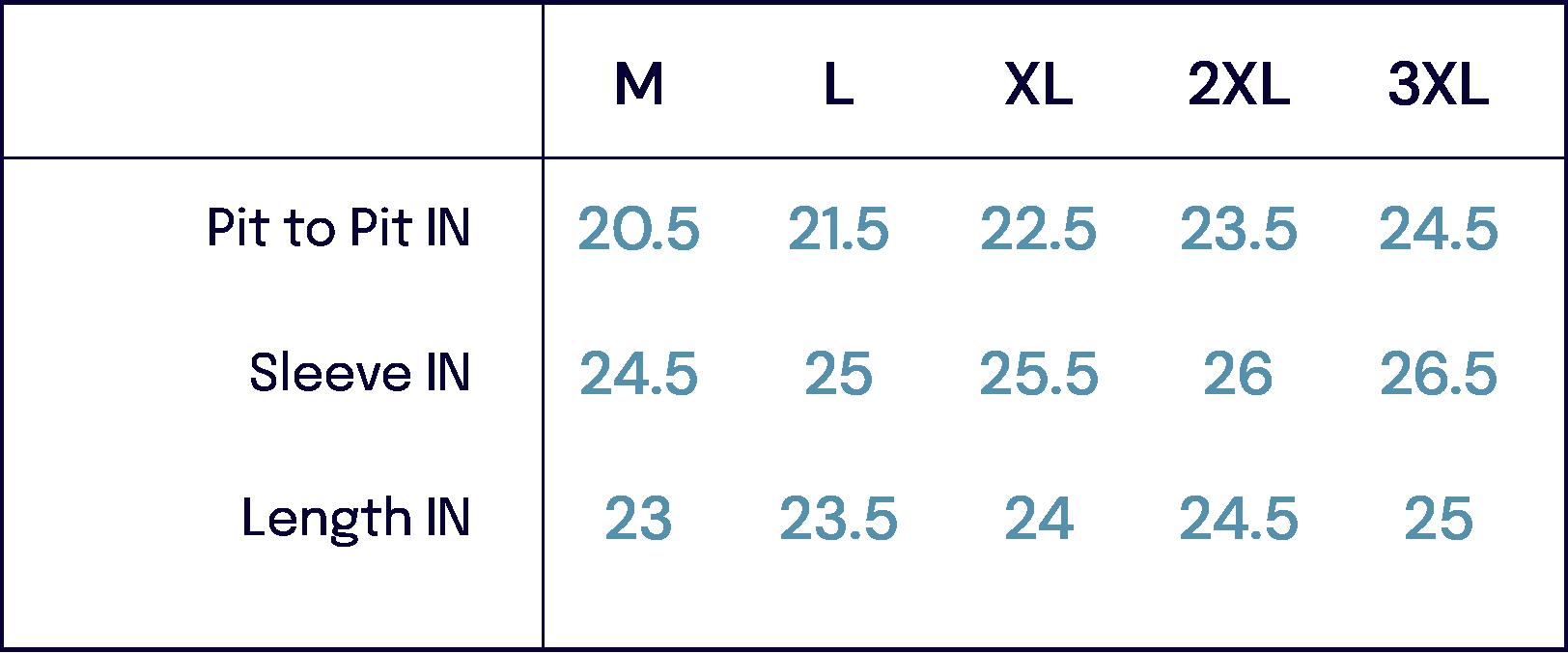 Size Charts –Thedi Leathers -John Simons Menswear