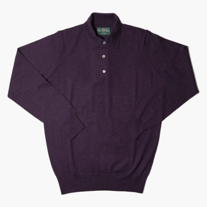 Alan Paine Polo Purple 1